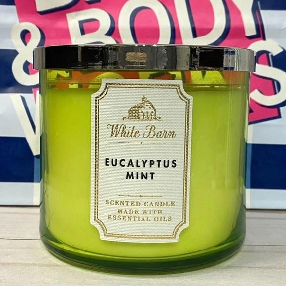 Bath & Body Works Eucalyptus Mint 3 Wick Candle